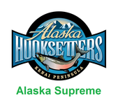 Alaska Supreme vacation package icon with lodge logo