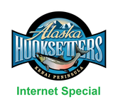 internet special fishing vacation package icon with lodge logo