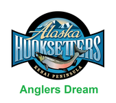 anglers dream fishing vacation package icon with lodge logo