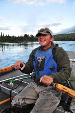kenai river fishing guide smile from drift boat